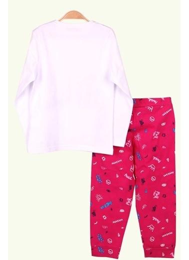 Breeze Kız Çocuk Pijama Takımı Supergirl Baskılı Beyaz (3-6 Yaş) Beyaz